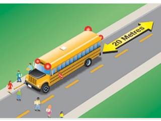 School Bus no median
